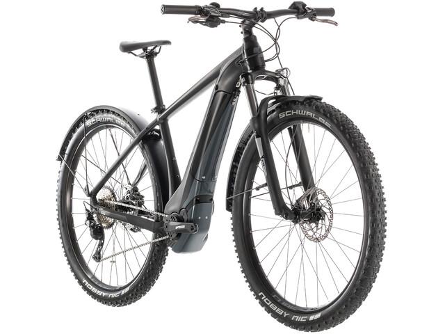 Cube Reaction Hybrid EXC 500 Allroad E-mountainbike sort (2019) | City-cykler